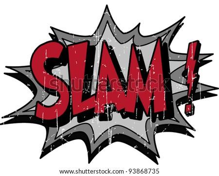 slam - stock vector