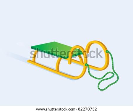 sled - stock vector