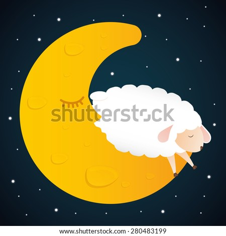 Sleep design over black background, vector illustration. - stock vector