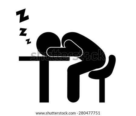Sleep design over white background, vector illustration. - stock vector