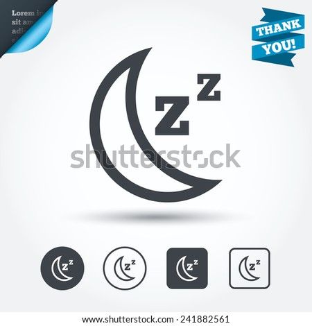zzz icon  Sleep sign icon. Moon