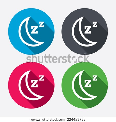 zzz icon  Sleep sign icon. Moon with