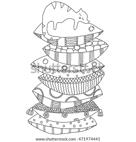 Pile Of Books Coloring Pages