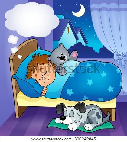 Sleeping child theme image 7 - eps10 vector illustration. - stock vector