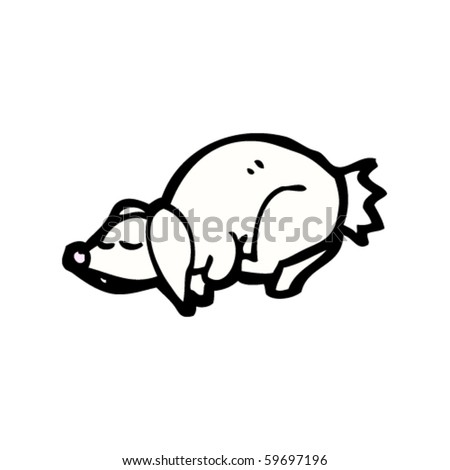 sleepy rabbit cartoon