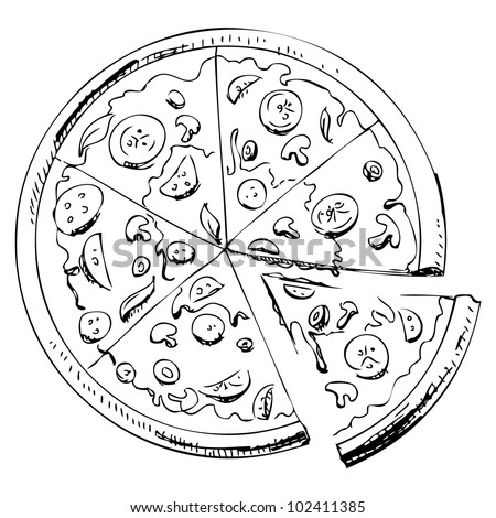 Pizza Drawing Stock Images, Royalty-Free Images & Vectors ...