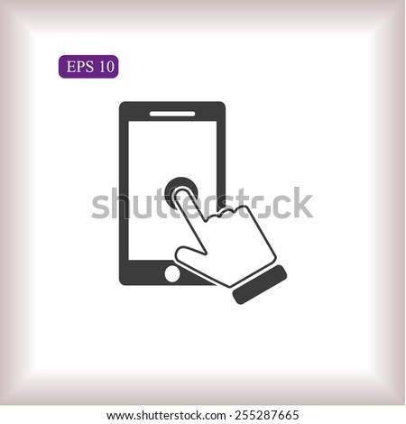 Slide touchscreen - stock vector
