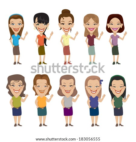 Slim And Fat Peoples - Isolated On White Background - Vector Illustration, Graphic Design Editable For Your Design  - stock vector