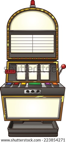 Slot machine. Vector clip art illustration with simple gradients. Handle is on a separate layer. - stock vector