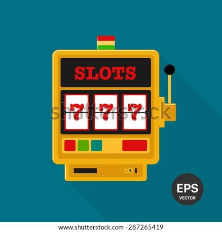 Slot machine vector icon - stock vector