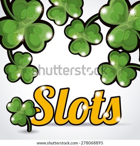 Slots design over white background, vector illustration - stock vector