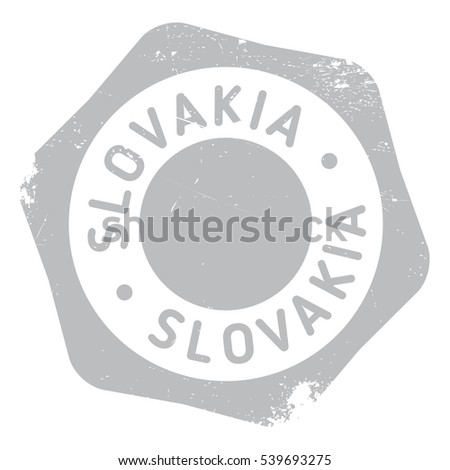 Slovakia stamp. Grunge design with dust scratches. Effects can be easily removed for a clean, crisp look. Color is easily changed.