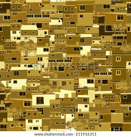 Slum city  - stock vector
