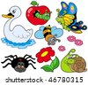 Small animals collection 9 - vector illustration. - stock vector