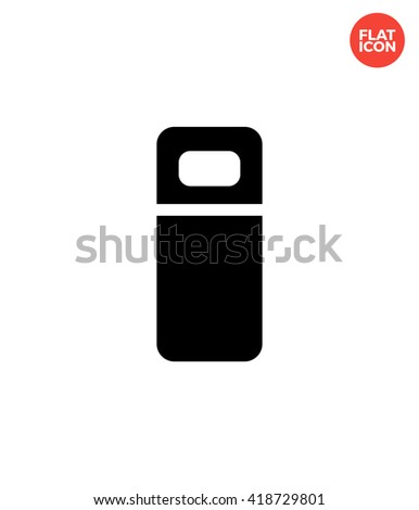 Small bed Icon Flat Style Isolated Vector Illustration - stock vector