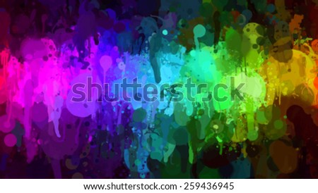 Small bright colorful brush strokes background. Vector version - stock vector
