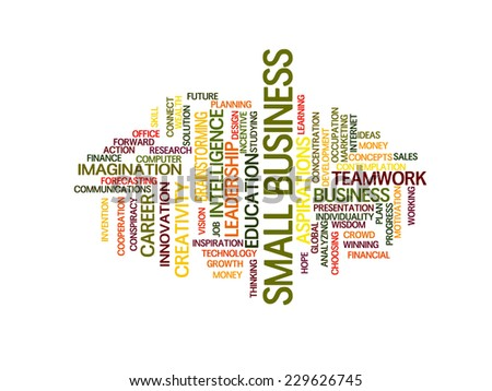 small business strategy in 2015 concept word cloud - stock vector