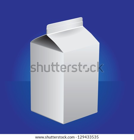 Small cartons for milk products. Vector illustration. - stock vector