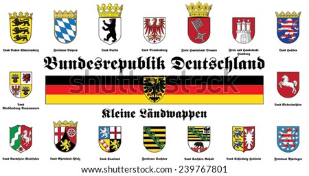 small coat of arms of Federal Republic of Germany - stock vector