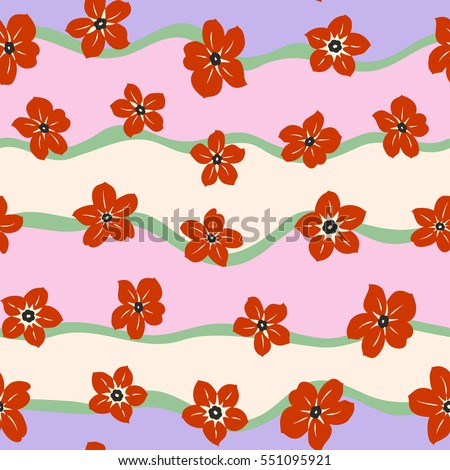 small colorful flowers elegant template fashion stock vector