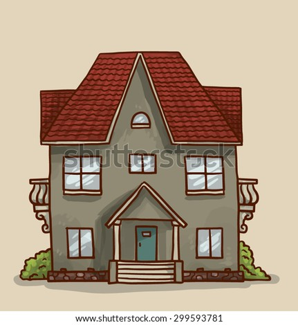 Pleasant Small Cute House Vector Stock Vector 299593781 Shutterstock Largest Home Design Picture Inspirations Pitcheantrous