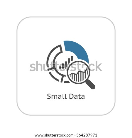 Small Data Icon. Flat Design. Business Concept. Isolated Illustration. - stock vector