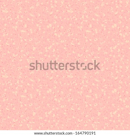 Small ditsy vector pattern with scattered dots and random shapes in soft warm colors. Seamless texture for web, print, gift wrapping paper, website wallpaper, spring summer fashion, textile design. - stock vector