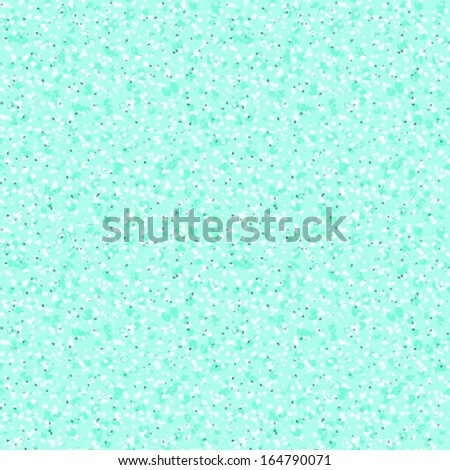 Small ditsy vector pattern with scattered dots and random shapes in tropical aqua blue. Seamless texture for web, print, gift wrapping paper, website wallpaper, spring summer fashion, textile design. - stock vector