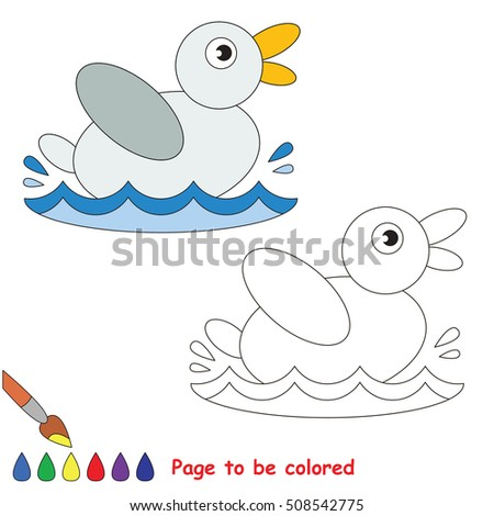 small duck be colored coloring book stock vector 508542748