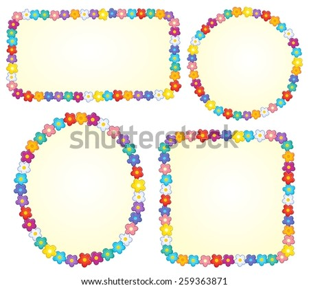 Small frames with flower theme 1 - eps10 vector illustration. - stock vector