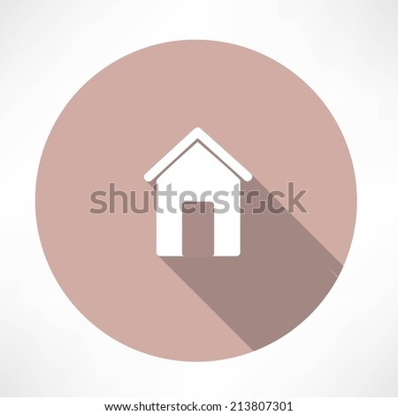 small house icon - stock vector