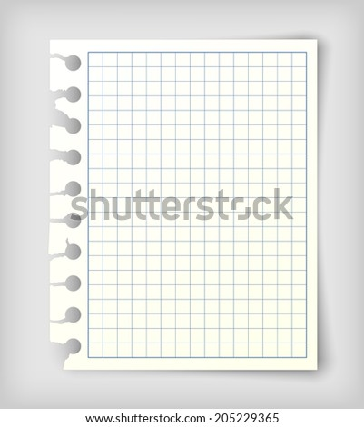 Small note paper sheet - stock vector
