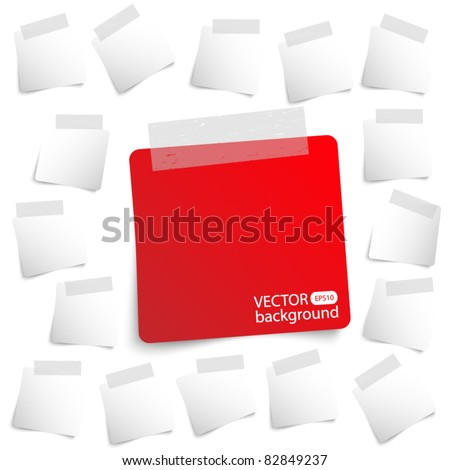 Small papers background - stock vector