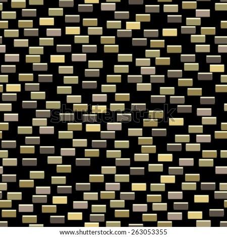small tiles on black seamless pattern - stock vector
