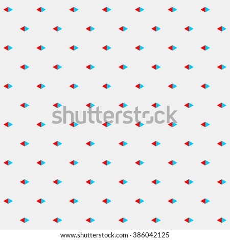 Small triangles pattern, rhombus pattern vector, abstract geometric pattern in red and blue