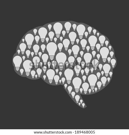 smart brain, creative Idea concept, flat style - stock vector