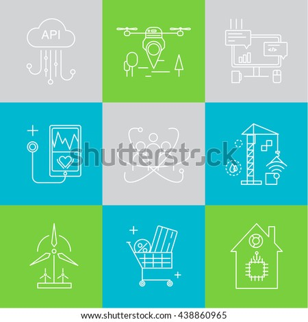 smart city vector concept modern minimal stock vektorgrafik 364238663 shutterstock. Black Bedroom Furniture Sets. Home Design Ideas