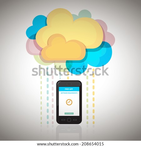 Smart Cloud - stock vector
