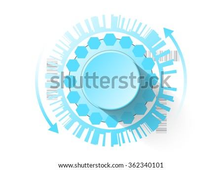 Smart futuristic control button as a background for your project - stock vector