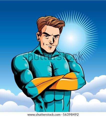 smart Hero character - stock vector