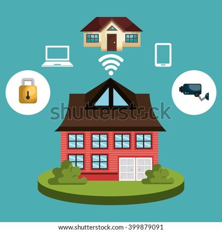 Smart Home Flat Design Style Vector Stock Vector 296608010 ...