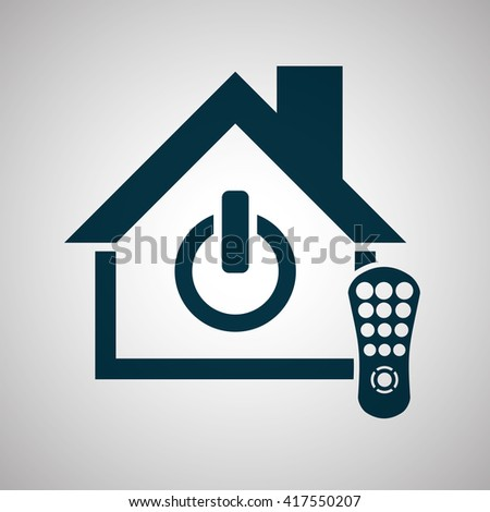 Smart Home Design Technology Icon System Stock Vector 417550207 ...