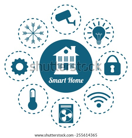 smart home design, vector illustration eps10 graphic  - stock vector