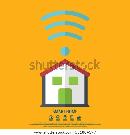 Smart home icon. Element for cards, poster and web design.