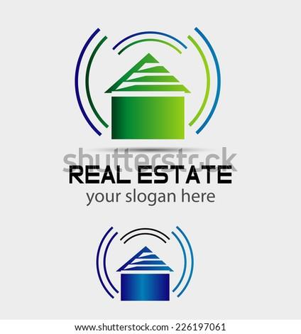 Smart house Real Estate Modern Logo Template - stock vector