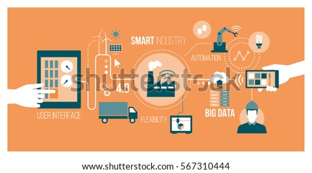 Smart Industry 40 Automation User Interface