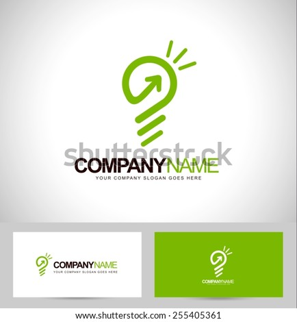 Smart Logo Concept Vector. Lightbulb Icon Design and business card template - stock vector