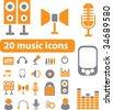 smart music signs. vector - stock vector