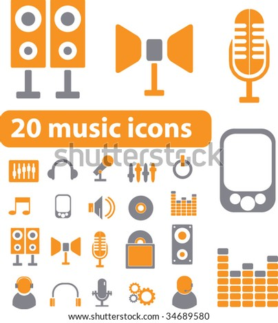 smart music signs. vector - stock vector