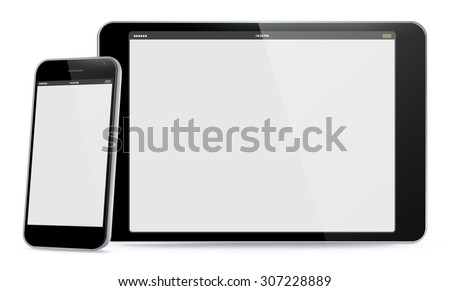 Smart Phone and Tablet PC Vector Illustration.